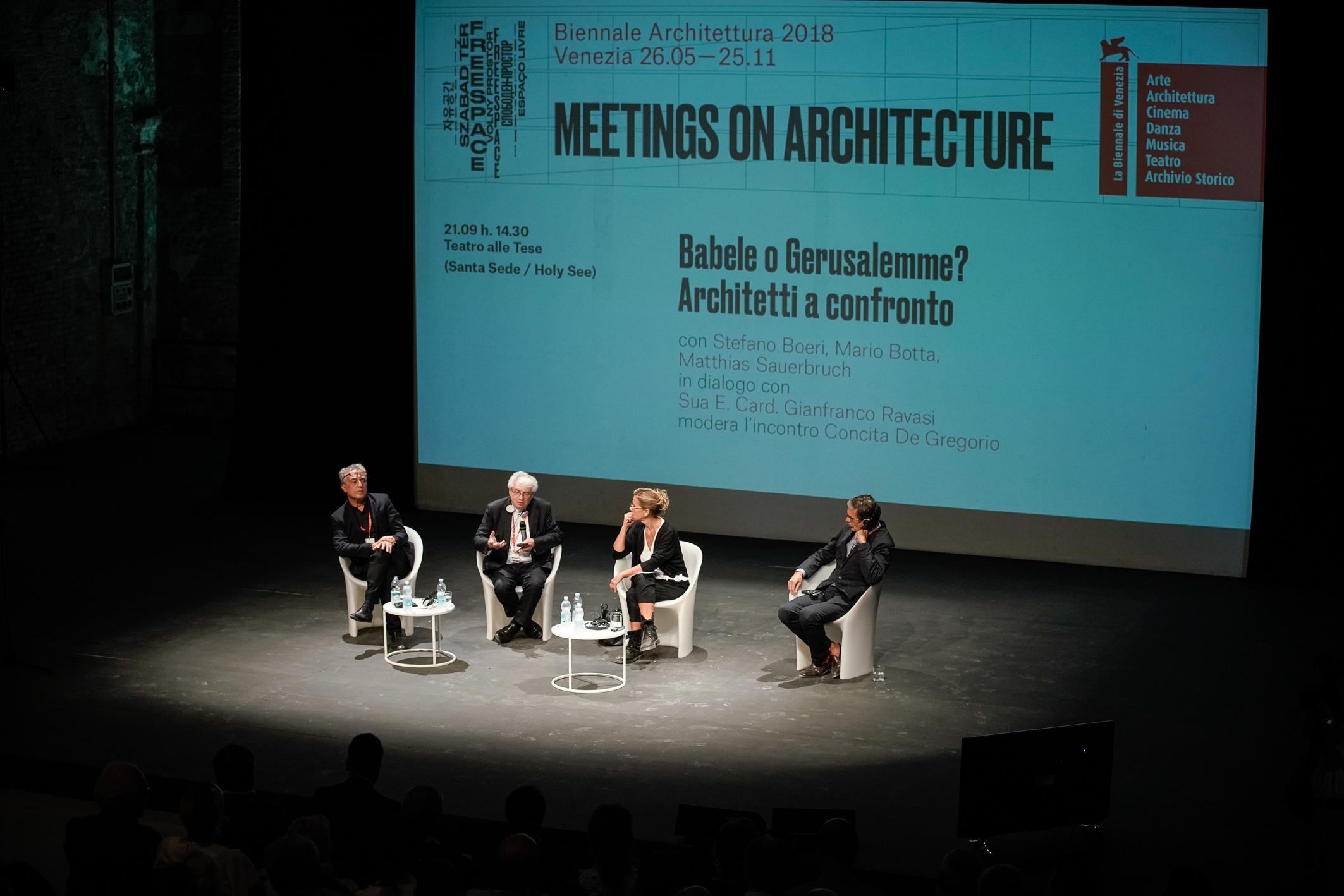 botta_boeri_sauerbruch_concita de Gregorio_biennale_architettura_meetings on architecture