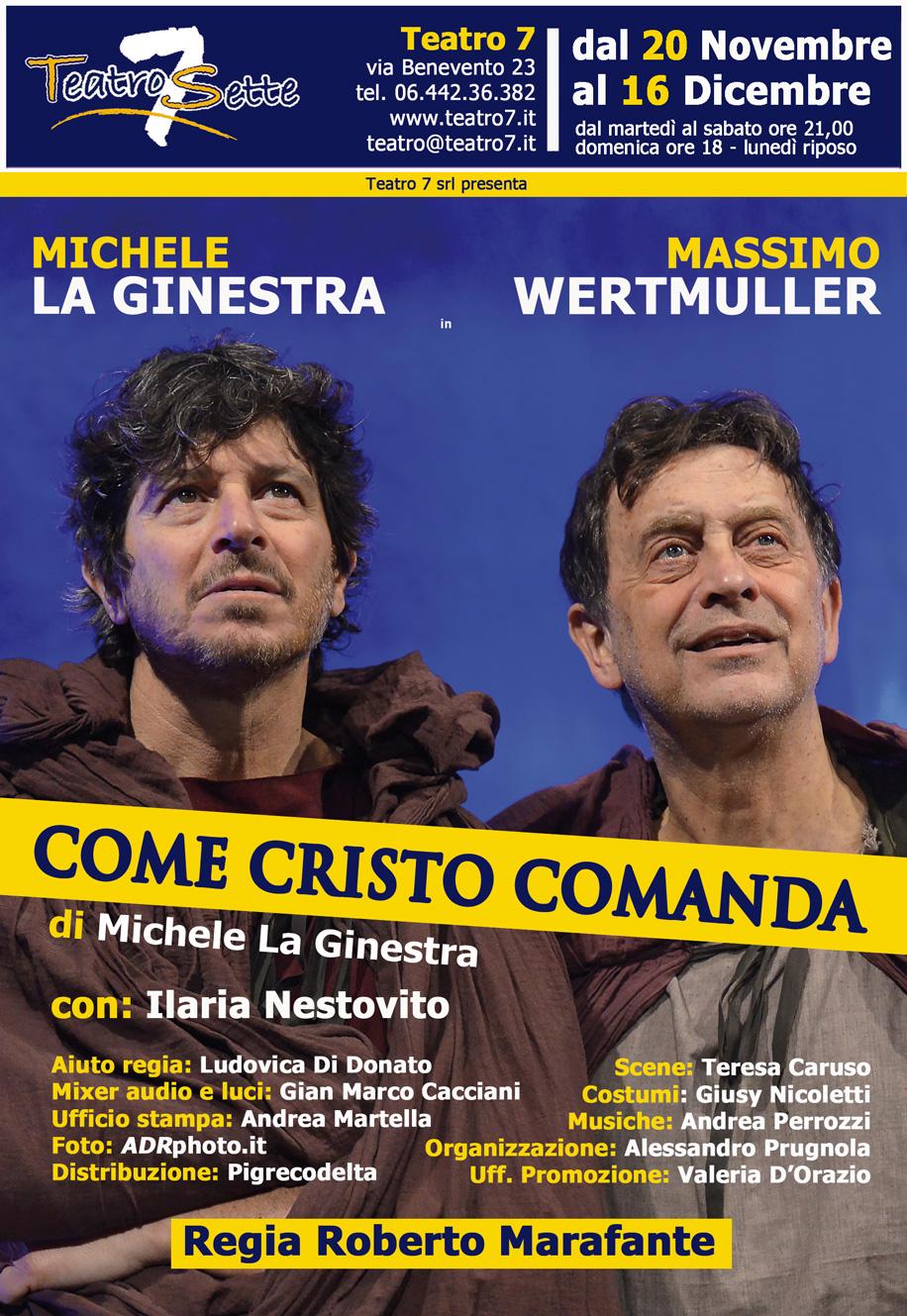 come cristo comanda_spettacolo teatrale_cortile dei gentili_teatro sette_roma